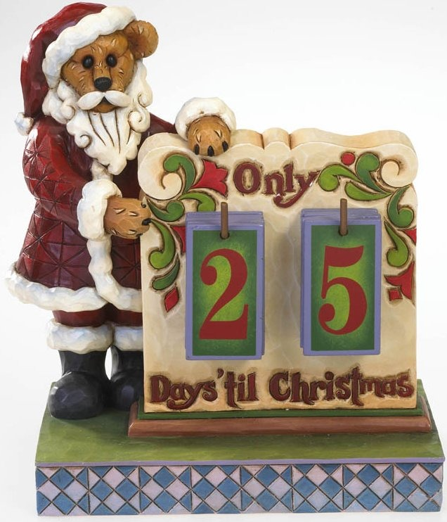 Boyds Bears by Jim Shore 4022307 Christmas Countdown Calendar Figurine