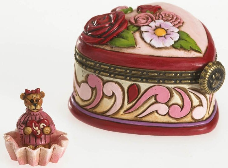 Boyds Bears by Jim Shore 4026266 Heart Candy Hinged Box