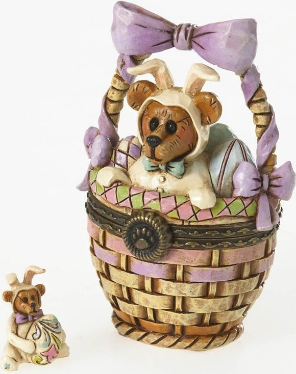 Boyds Bears by Jim Shore 4026269 Easter Basket Hinged Box