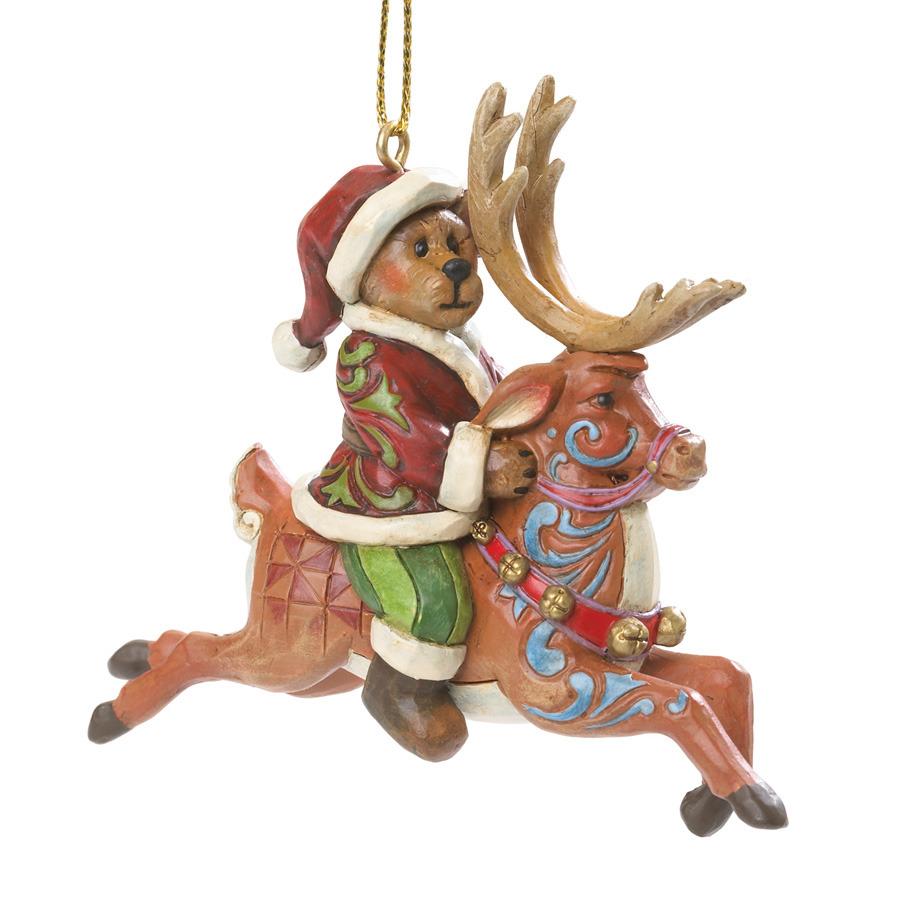 Boyds Bears by Jim Shore 4035832 Santa Riding Reindeer
