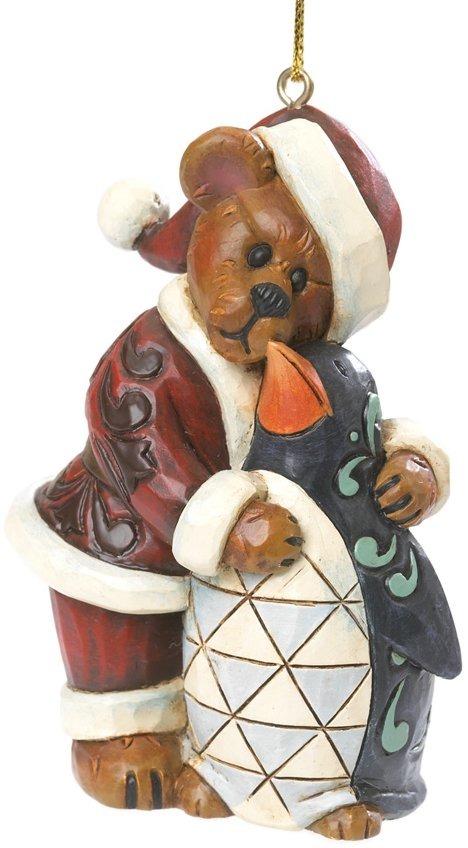 Boyds Bears by Jim Shore 4035834 Santa Bear with Penguin Ornament