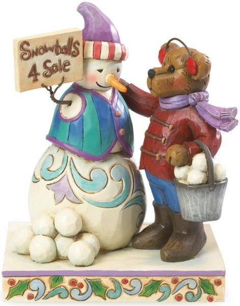 Boyds Bears by Jim Shore 4041909 Bear With Snowman Sellin