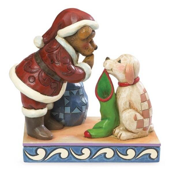 Boyds Bears by Jim Shore 4041911 Santa With Dog Brstne Fi