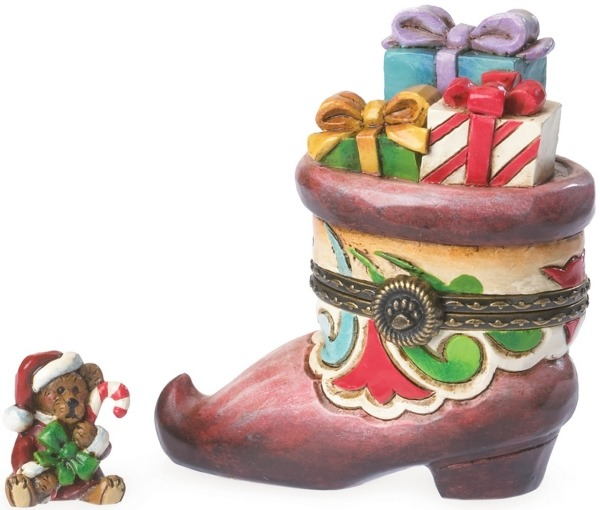 Boyds Bears by Jim Shore 4041913 Santa's Boot Trinket Box