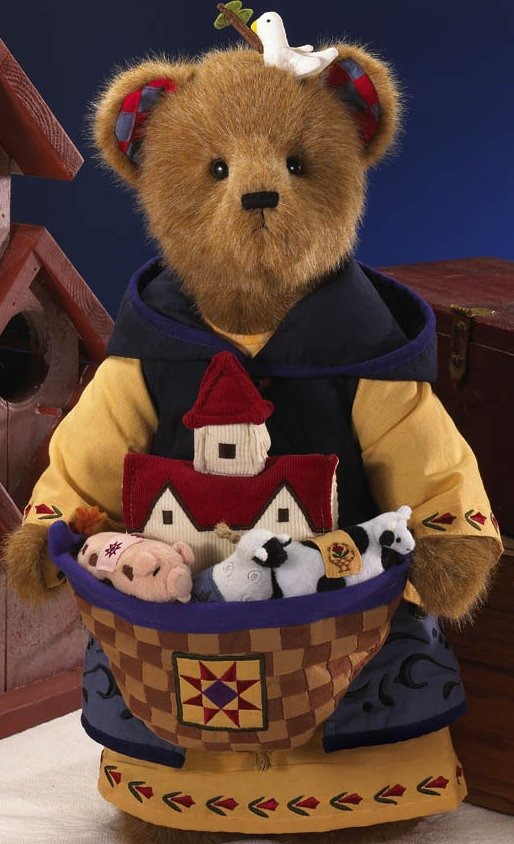 Boyds Bears by Jim Shore 92006-16 Noah Bear With Quilted Ark Plush