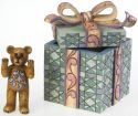 Boyds Bears by Jim Shore 4020855 Bear In Gift Wrapped Box 2 Pieces Figurine