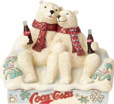 Jim Shore Coca Cola 4059475 Polar Bear Couple