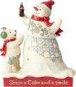 Jim Shore Coca Cola 4059473 Snowman and Baby Polar