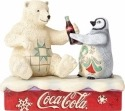Jim Shore Coca Cola 4059474 Young Polar Bear and Penguin
