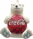 Jim Shore Coca Cola 4059722 Polar Bear Coke Logo