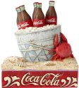Jim Shore Coca Cola 6000996 Coke Ice Bucket on Beach