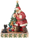 Jim Shore Coca Cola 6003599 Dog w Santa