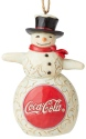 Jim Shore Coca Cola 6003601N Coke Snowman Ornament