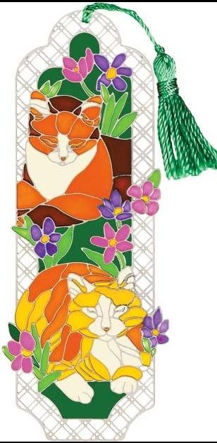 Special Sale BMM2015 Joan Baker Designs BMM2015 Tiffany Cats Bookmark