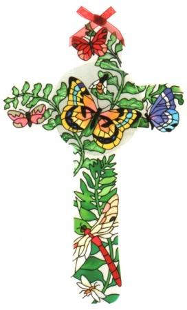 Joan Baker Designs GX264 Botanical Cross