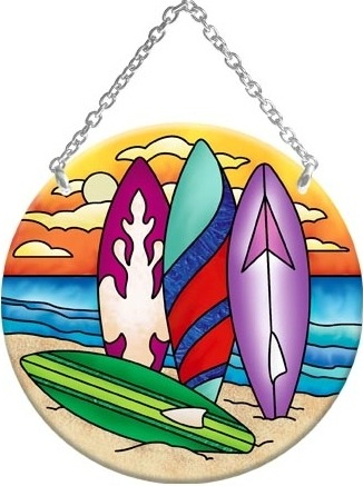 Joan Baker Designs MC282R Surfboards Medium Circle Suncatcher
