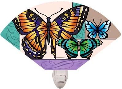 Special Sale NL140 Joan Baker Designs NL140R Butterfly Collage Fan Night Light
