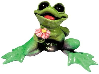 Kitty's Critters 8252 Frogive Me - Lights up Figurine Frog