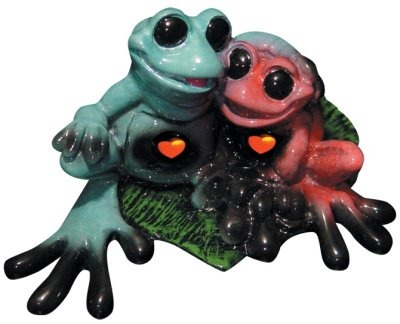 Kitty's Critters 8253 Toadly in Love Lights up Figurine Frog