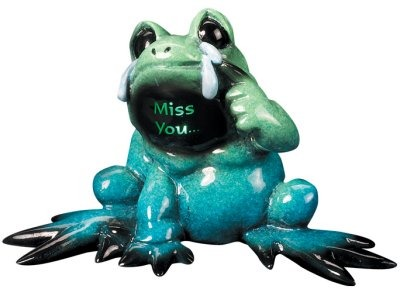 Kitty's Critters 8287 Miss You Lights Up Tipsies Frog