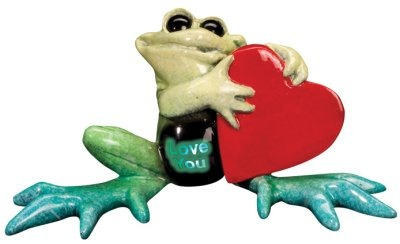Kitty's Critters 8376 Love You Lights Up Figurine Frog