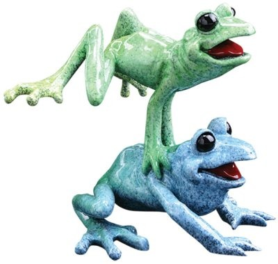 Kitty's Critters 8440 Leap Frogs Figurine Frog