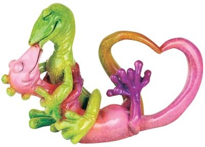 Kitty's Critters 8534 Love In Paradise Figurine Gecko