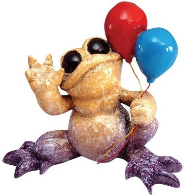 Kitty's Critters 8598 Party Time Figurine Frog