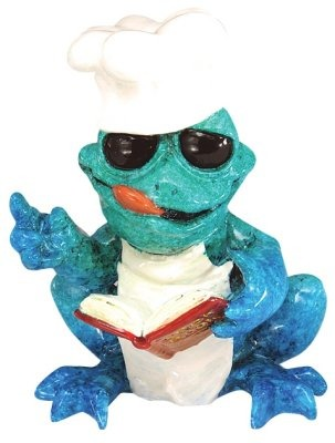 Kitty's Critters 8602 Pierre chef Figurine Frog