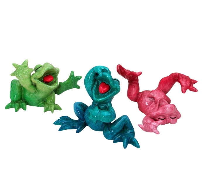 Kitty's Critters 8642 Larry Curly and Mo Figurine Frog