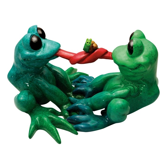 Kitty's Critters 8648 Escargot Figurine Frog