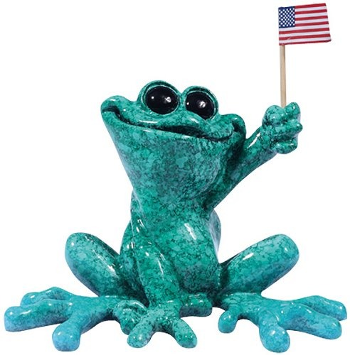 Kitty's Critters 8690 Born in the USA Figurine Frog
