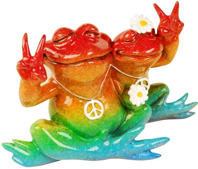 Kitty's Critters 8693 Peace Man Figurine Frog
