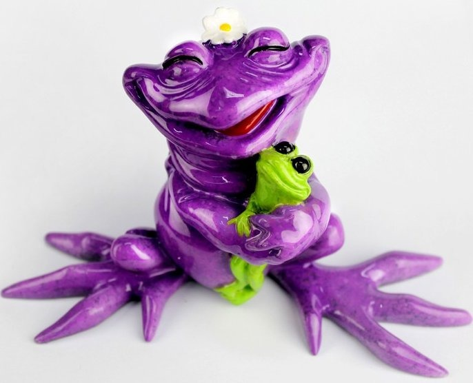 Kitty's Critters 8701 Granny & Me Figurine Frog