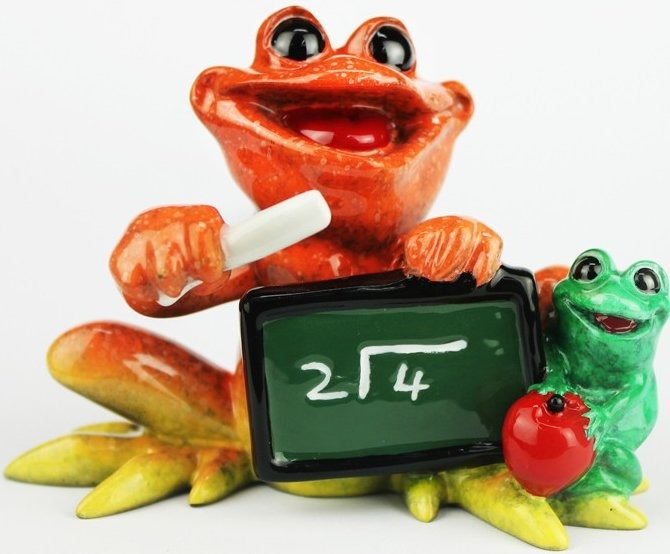 Kitty's Critters 8706 Teach Figurine Frog