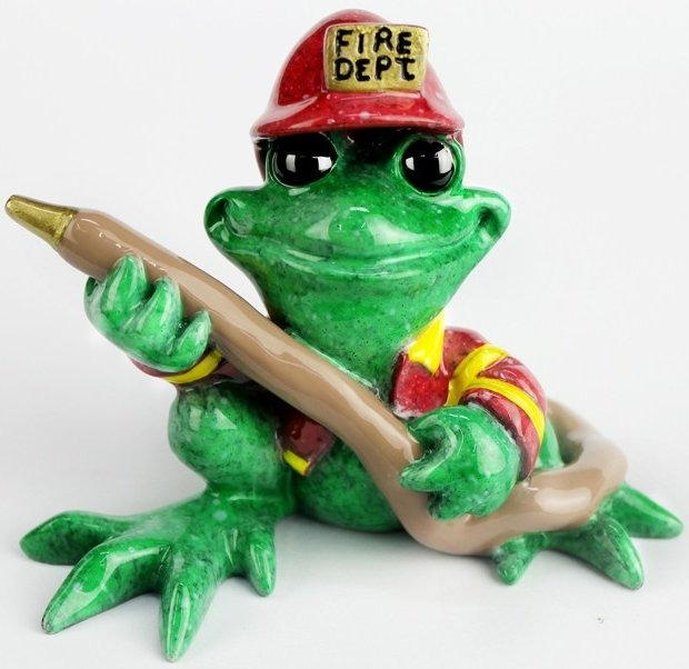 Kitty's Critters 8707 Code Red Figurine Frog