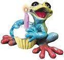 Kitty's Critters 8251 Hoppy Birthday Lights Up Figurine Frog