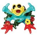 Kitty's Critters 8544 My Paradise Figurine Frog
