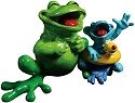 Kitty's Critters 8688 Just Keep Swimmin' Figurine Frog