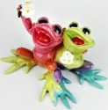 Kitty's Critters 8704 Sisterly Love Figurine Frog