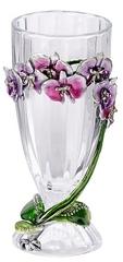 Kubla Crafts Bejeweled Enamel KUB 0-3000 Orchid Vase Bejeweled Enamel Crystal Glass