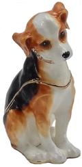Kubla Crafts Bejeweled Enamel KUB 0-3078 Beagle Box