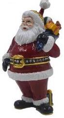 Kubla Crafts Bejeweled Enamel KUB 0-3088 Santa Box