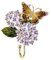 Kubla Crafts Bejeweled Enamel KUB 0-3138 Hydrangea Wall Hook