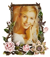 Kubla Crafts Bejeweled Enamel KUB 0-3140 Rose Frame 4x6