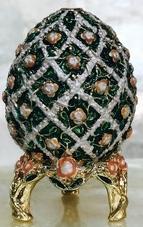 Kubla Crafts Bejeweled Enamel KUB 0-3160 Embossed Egg Box