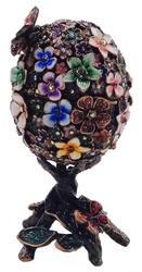 Kubla Crafts Bejeweled Enamel KUB 0-3161B Victorian Egg Large Box