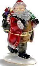 Kubla Crafts Bejeweled Enamel KUB 0-3342 Santa Box