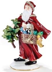 Kubla Crafts Bejeweled Enamel KUB 0-3363 European Santa Box