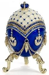 Kubla Crafts Bejeweled Enamel KUB 0-3691 Egg Large Bejeweled Box